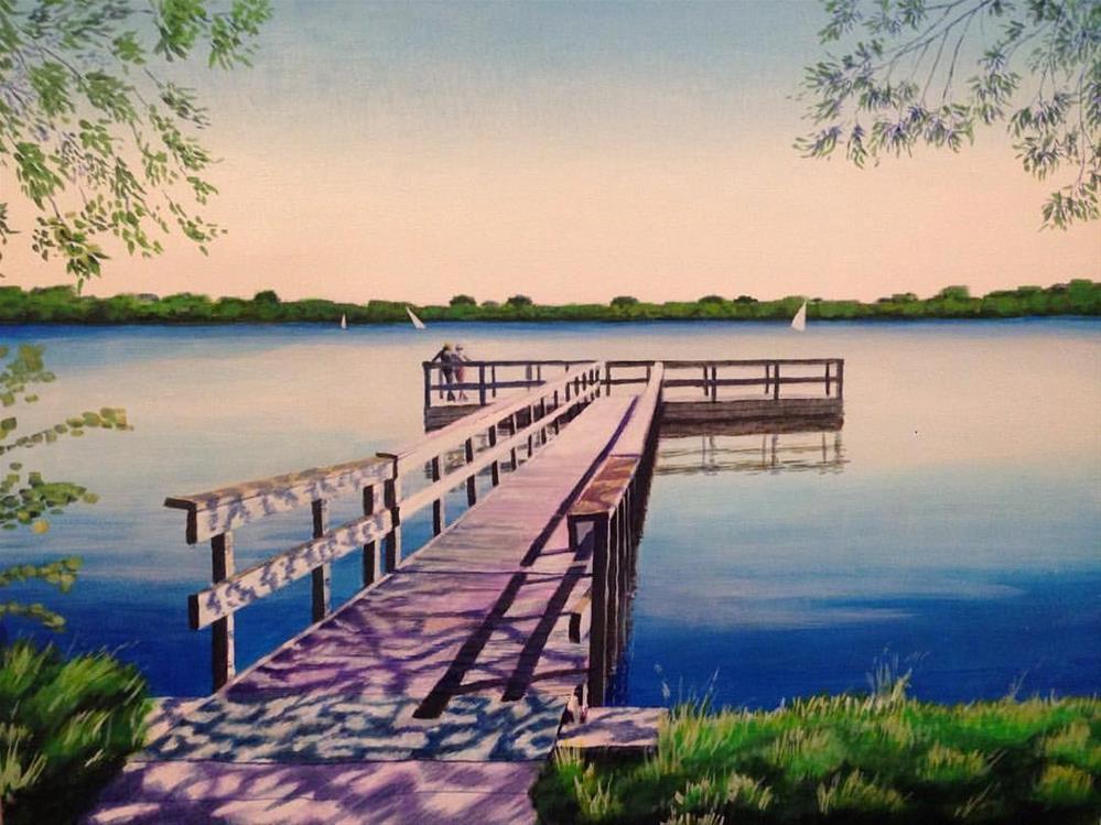"""Dock"" original fine art by Jim Musil"