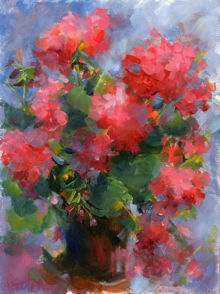 """Geranium Portrait"" original fine art by Pamela Gatens"