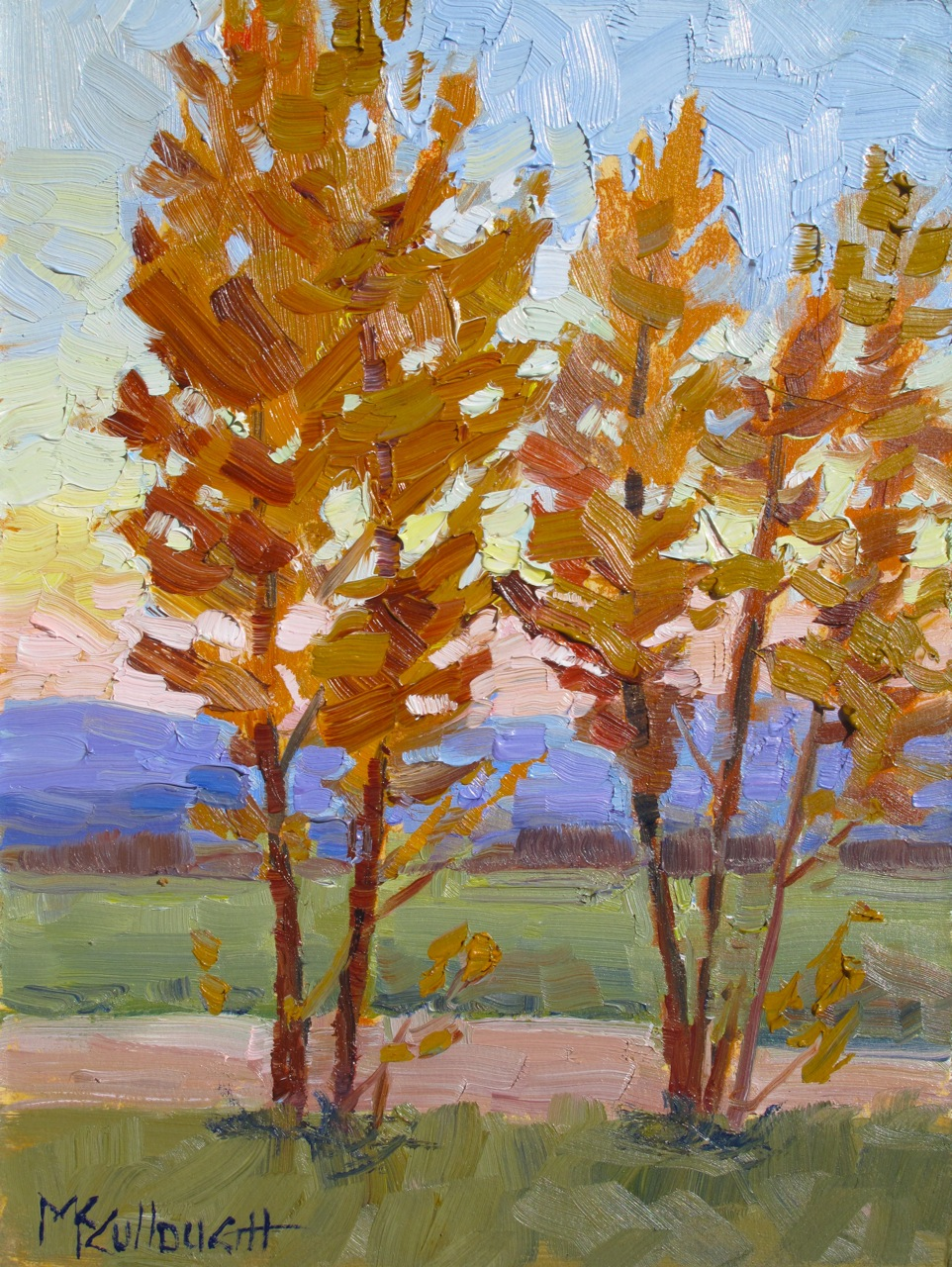 """Dawn in the Fall"" original fine art by Susan McCullough"