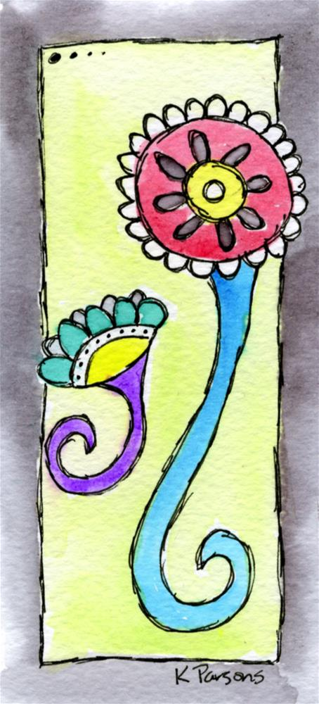 """""""And We Curl"""" original fine art by Kali Parsons"""