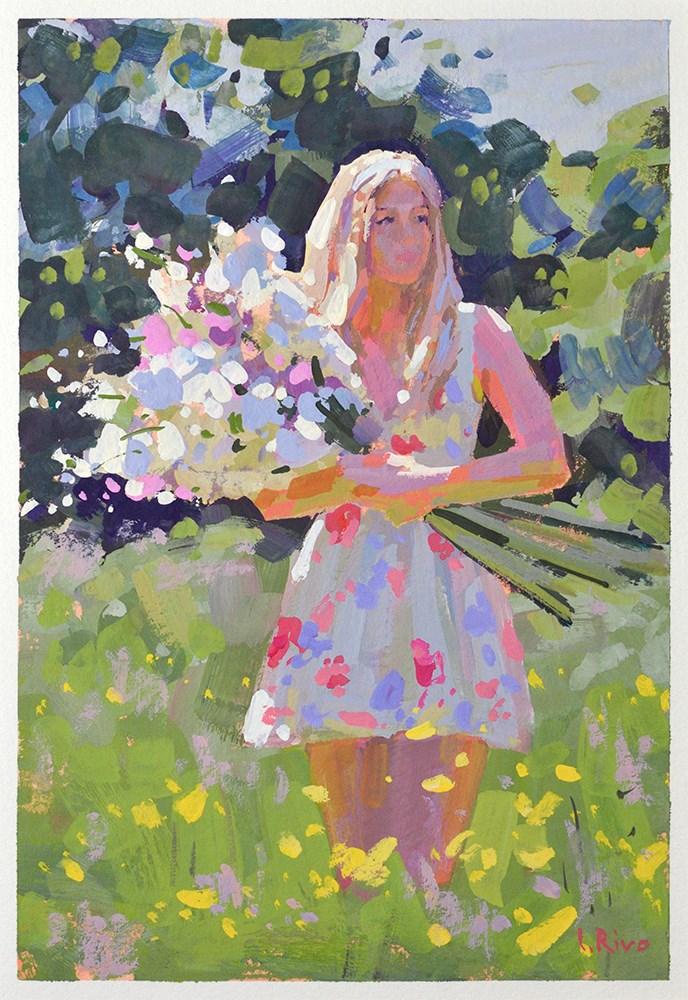 """Summer Bouquet"" original fine art by Lena  Rivo"