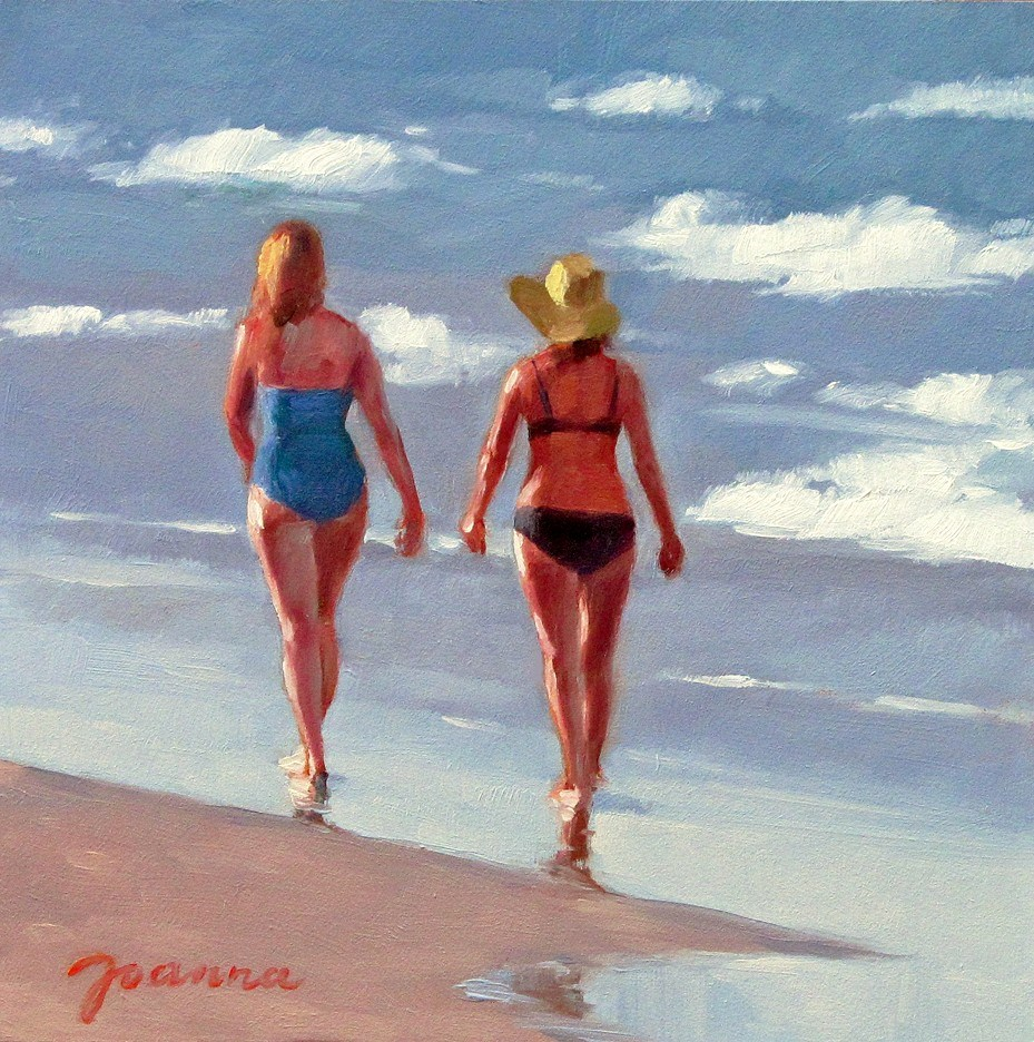 """Sunset Stroll"" original fine art by Joanna Bingham"