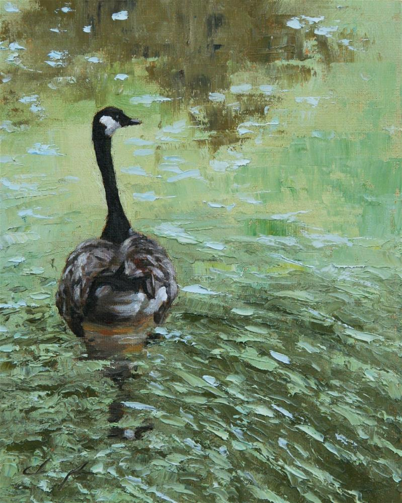 """Canadian Goose"" original fine art by Chuang Liu"