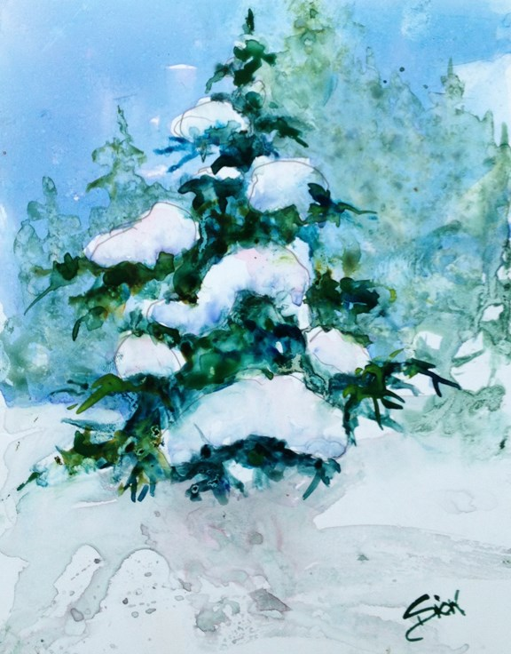 """Winter Beauty"" original fine art by Sue Dion"