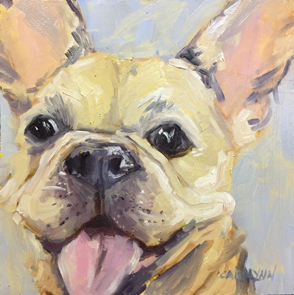 """""""NYCsubway Dog"""" original fine art by Carolynn Doan"""
