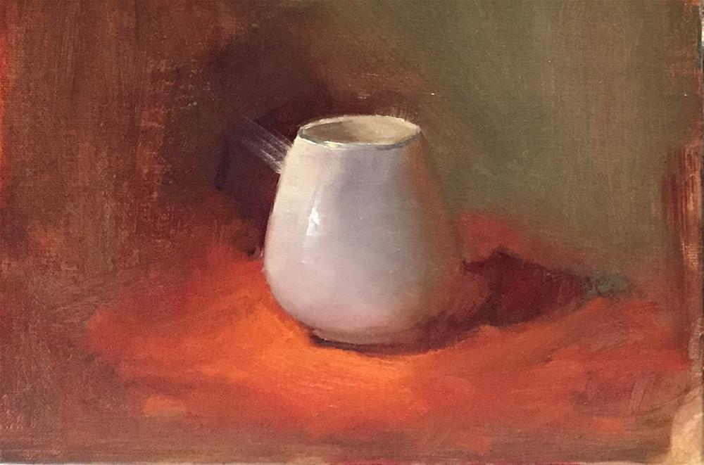 """white cup"" original fine art by Pragya Tiwari"