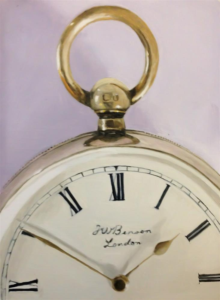 """Pocket Watch"" original fine art by James Coates"