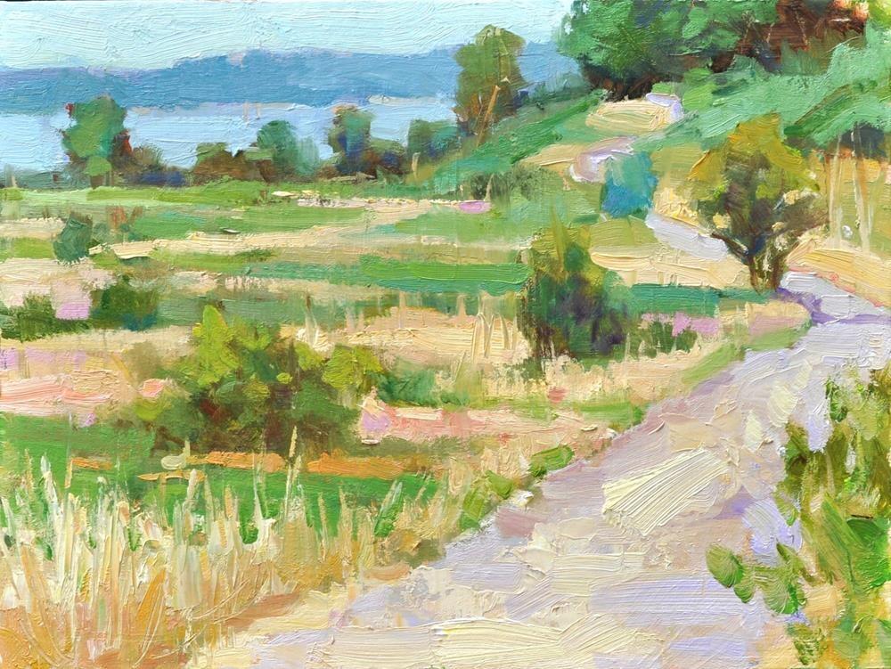 """PaPaYa 11x14 oil/board"" original fine art by Emiliya Lane"