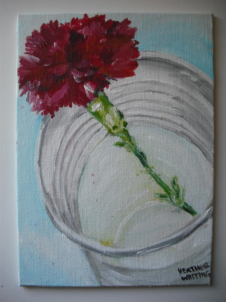 """Carnation In A Paper Cup"" original fine art by Heather Whiting"