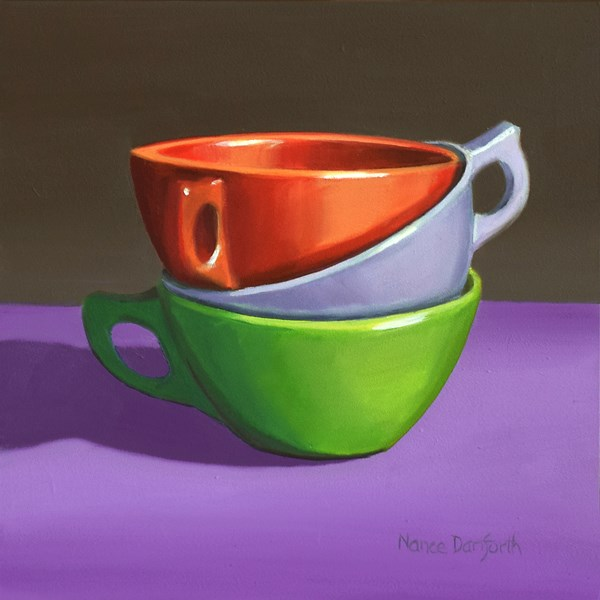 """Three Cups"" original fine art by Nance Danforth"