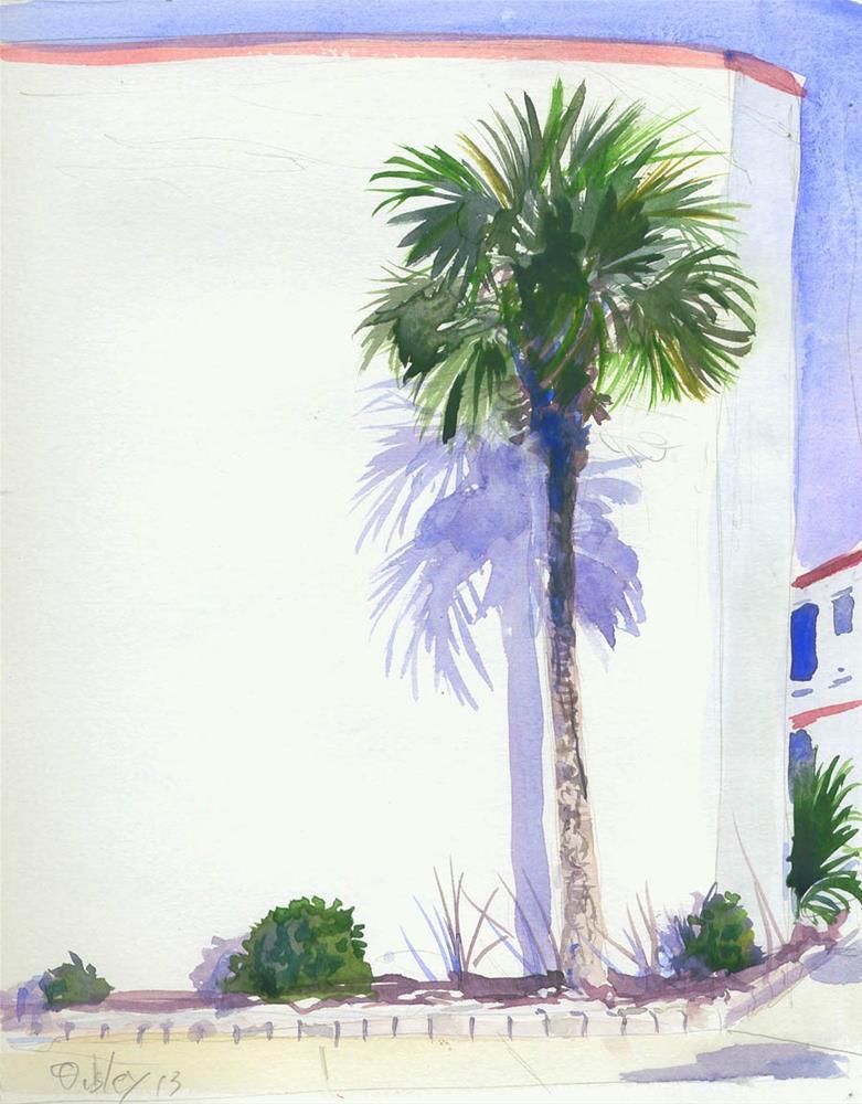 """Palm Shadow"" original fine art by Chris Ousley"