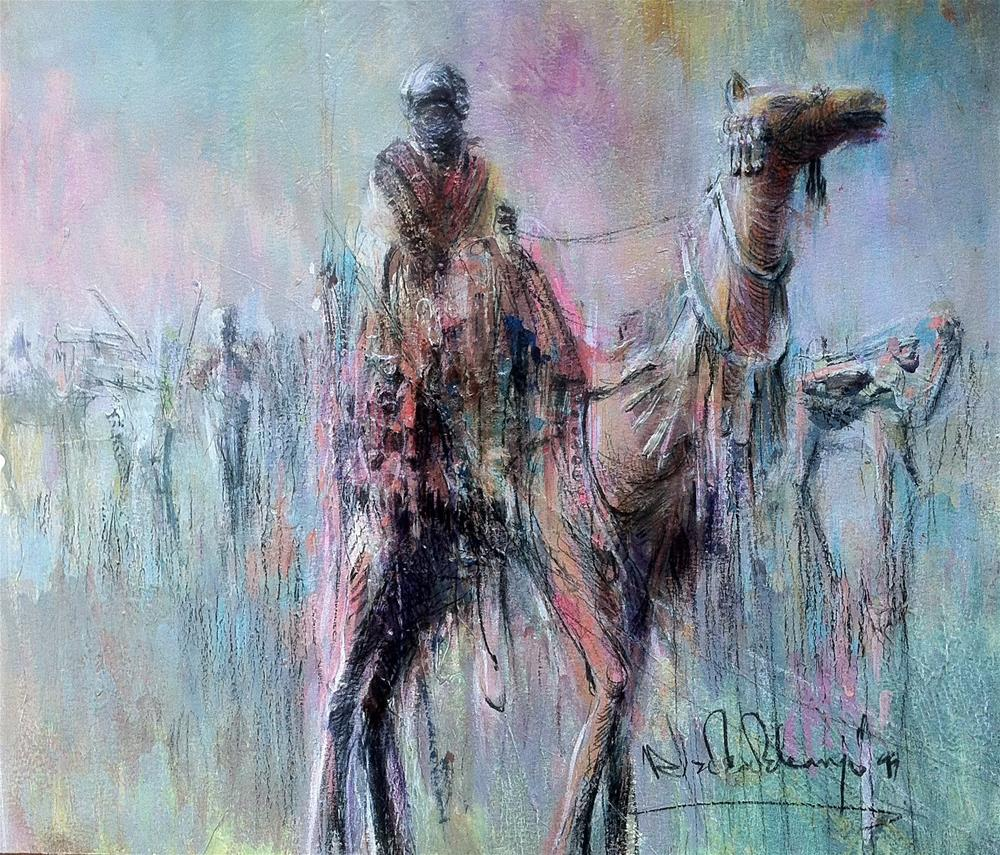 """Northern Rider"" original fine art by Adebanji Alade"