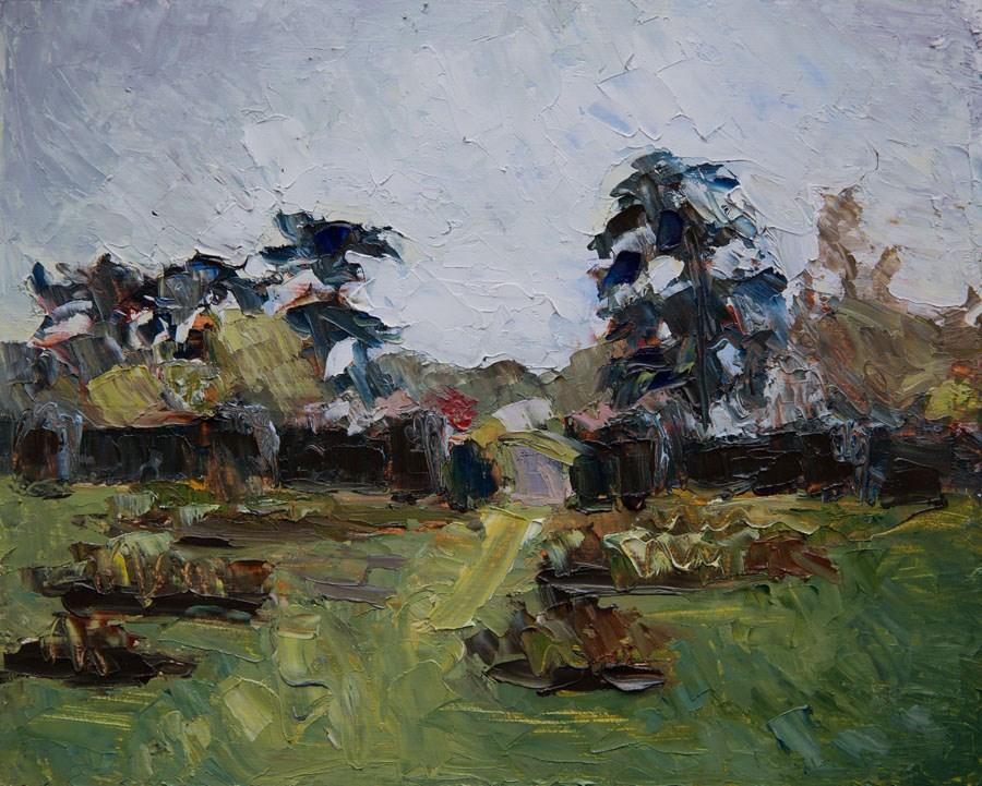"""Kew View"" original fine art by Jethro Knight"