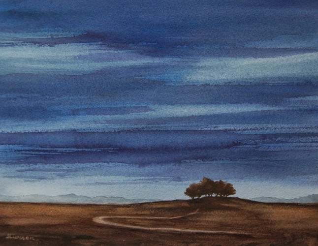 """Nightfall"" original fine art by Jean Lurssen"