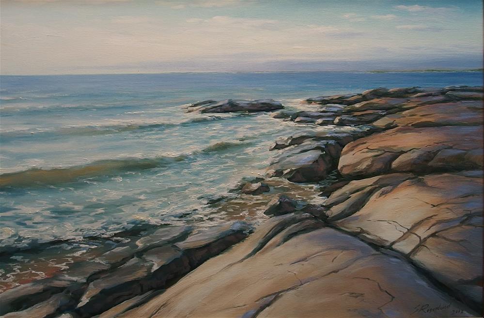 """Rocks"" original fine art by Stig Rosenlund"