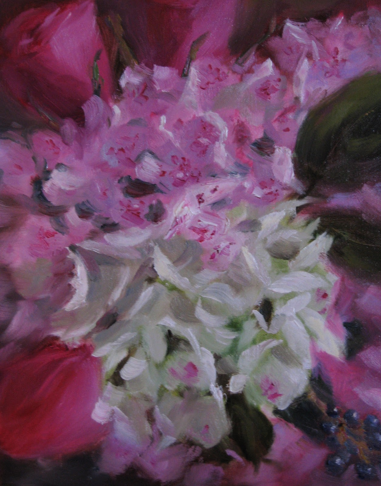 """Hydrangeas- Close-Up"" original fine art by Pat Fiorello"