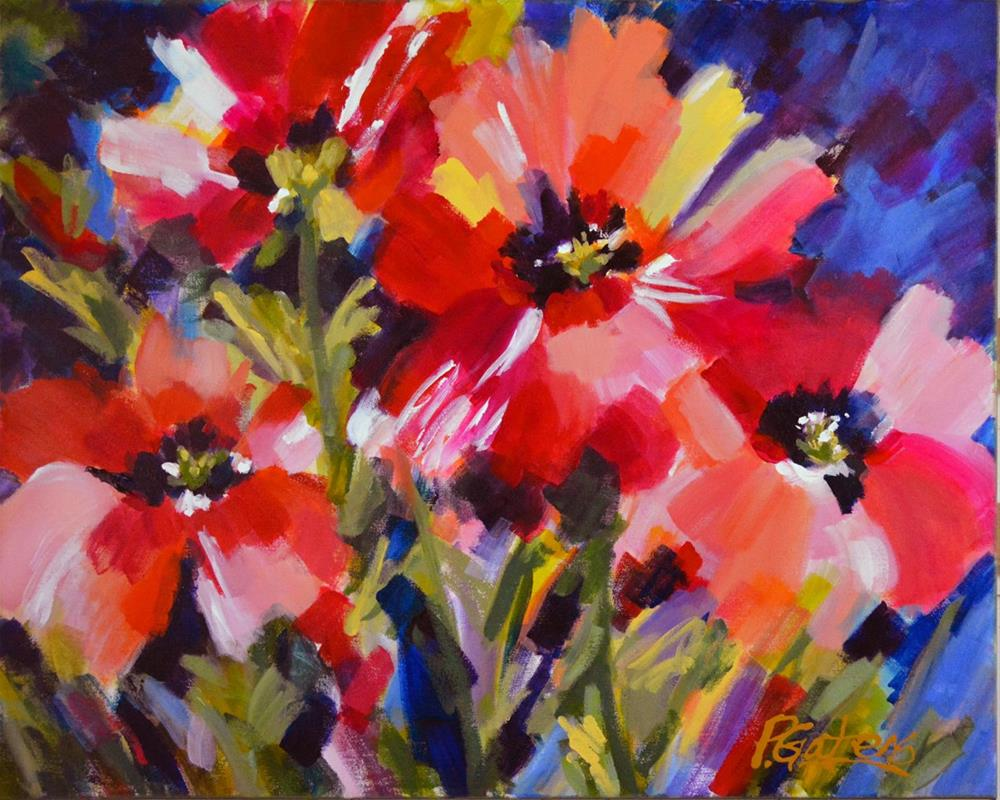 """Red Poppies"" original fine art by Pamela Gatens"
