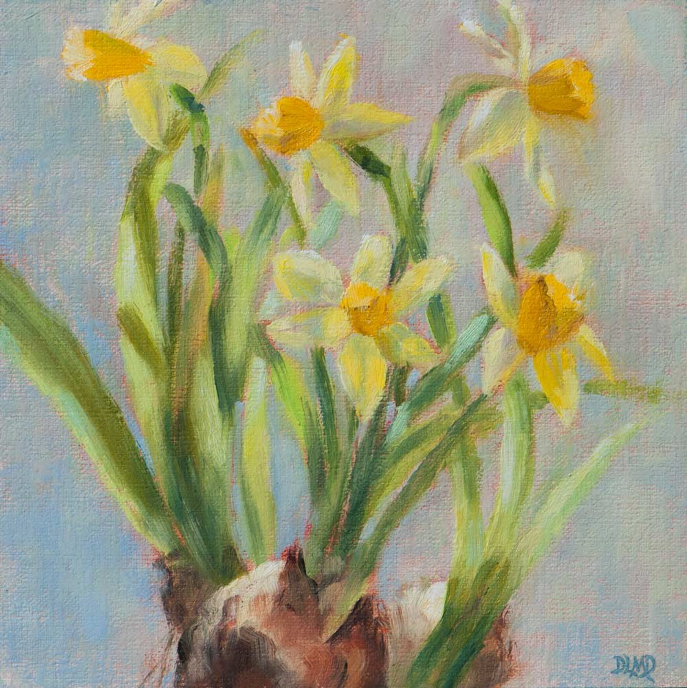 """Art With Heart Kindness Project: Daffodils!"" original fine art by Debbie Lamey-Macdonald"