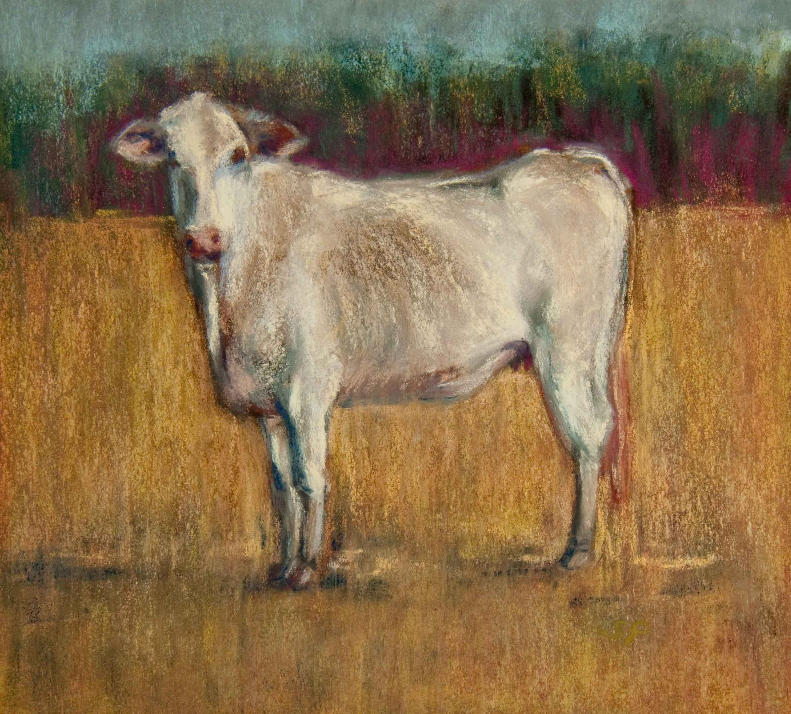 """Tapestry Cow"" original fine art by Sarah Peroutka"