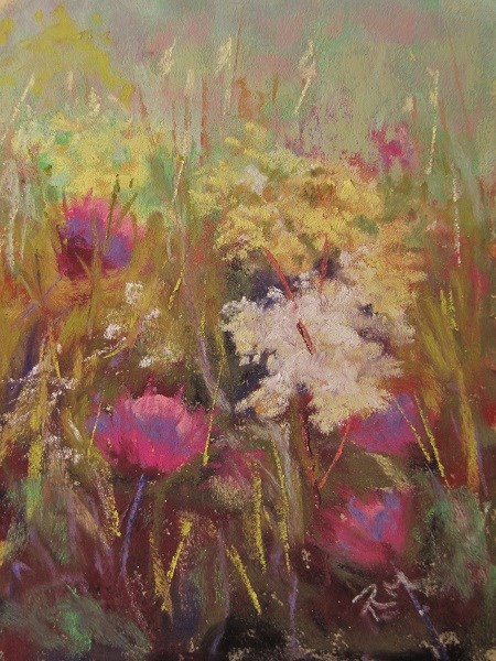 """Meadow Flowers"" original fine art by Ruth Mann"