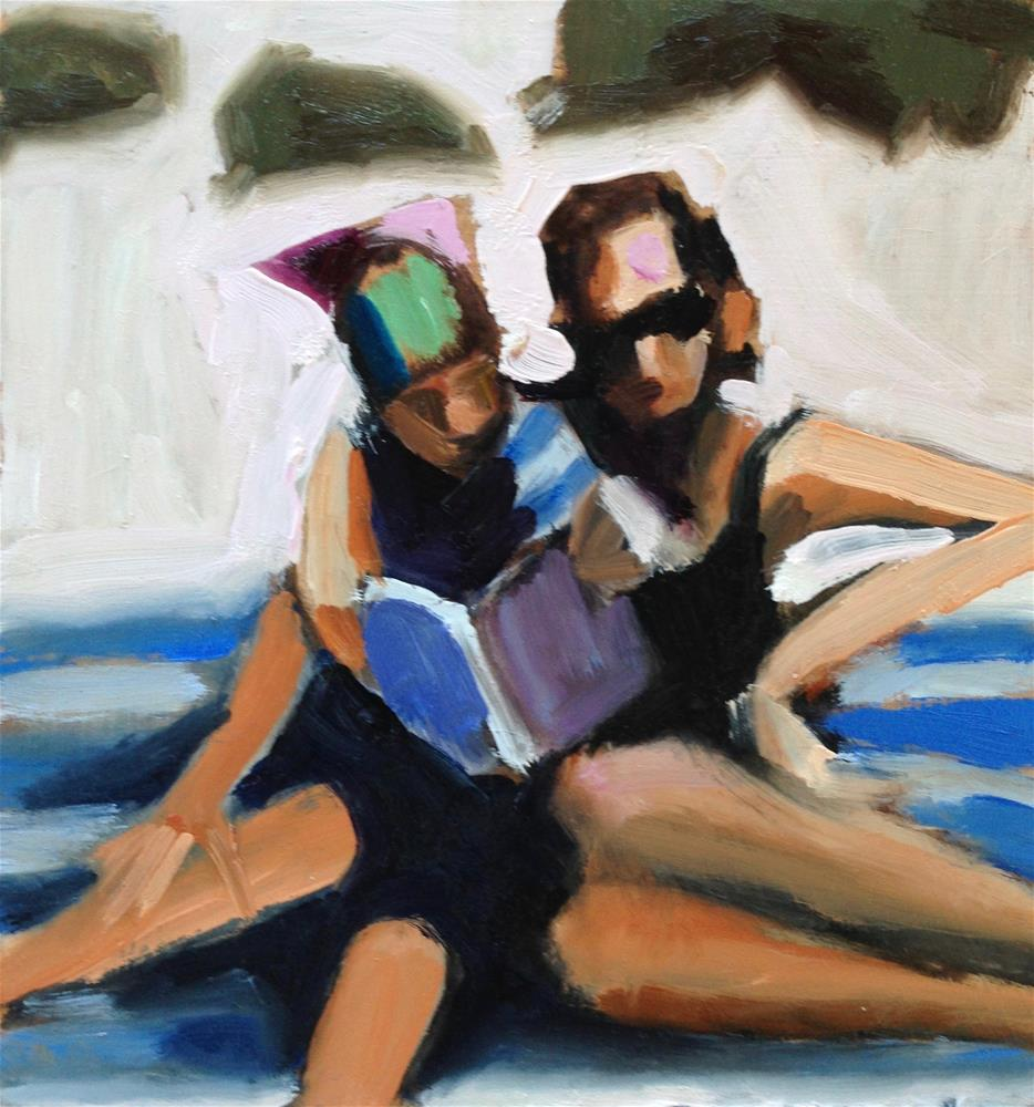 """Beach Sisters"" original fine art by Pamela Hoffmeister"
