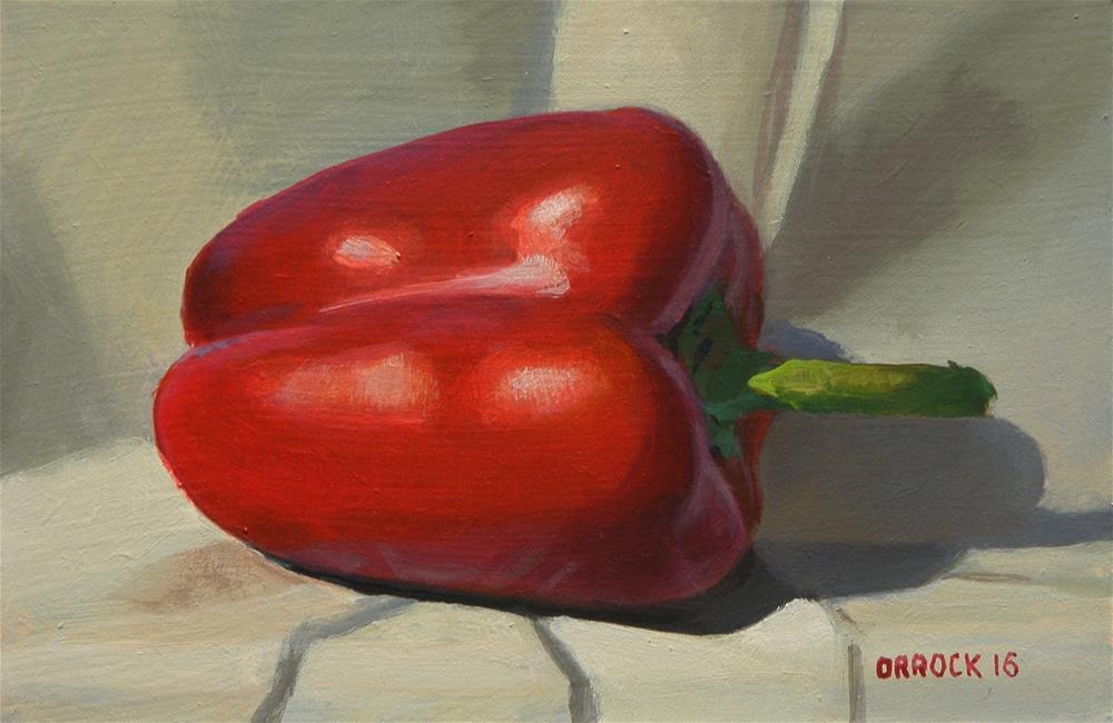 """""""Red pepper"""" original fine art by Peter Orrock"""