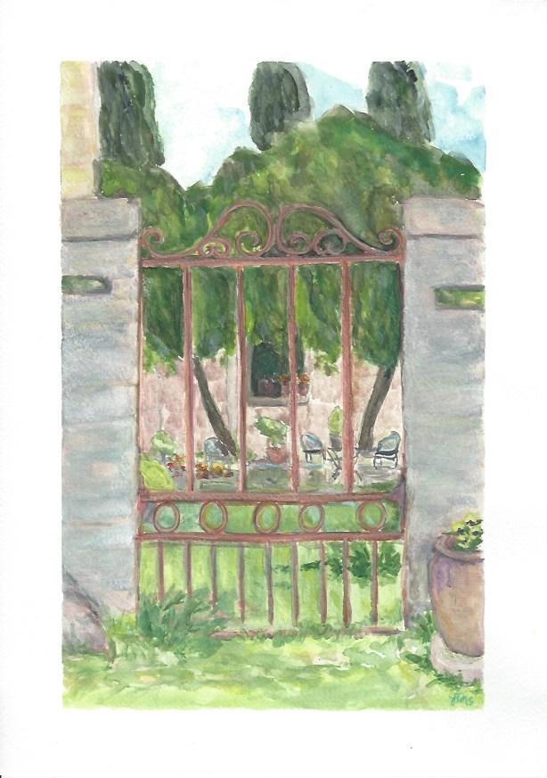 """La Javonne, Saze, Provence"" original fine art by Laura Denning"