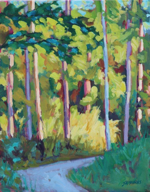 """campbell valley trail"" original fine art by Shelley Garries"