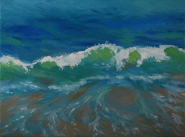 """Backlit Wave"" original fine art by J M Needham"
