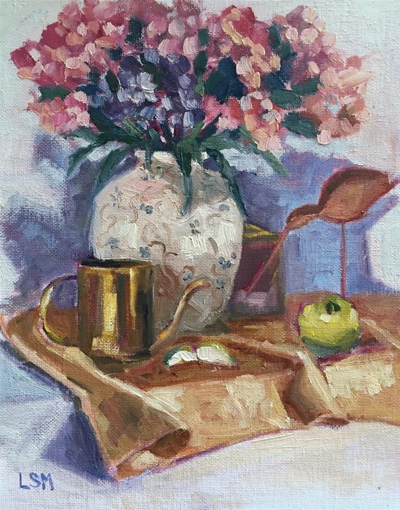 """Still life with Gold Cup"" original fine art by Linda Marino"