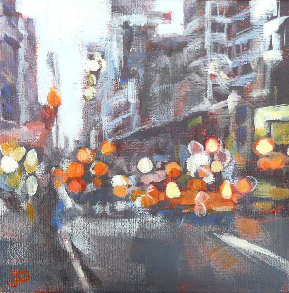 """Early Evening In The City"" original fine art by Leanne Owen"