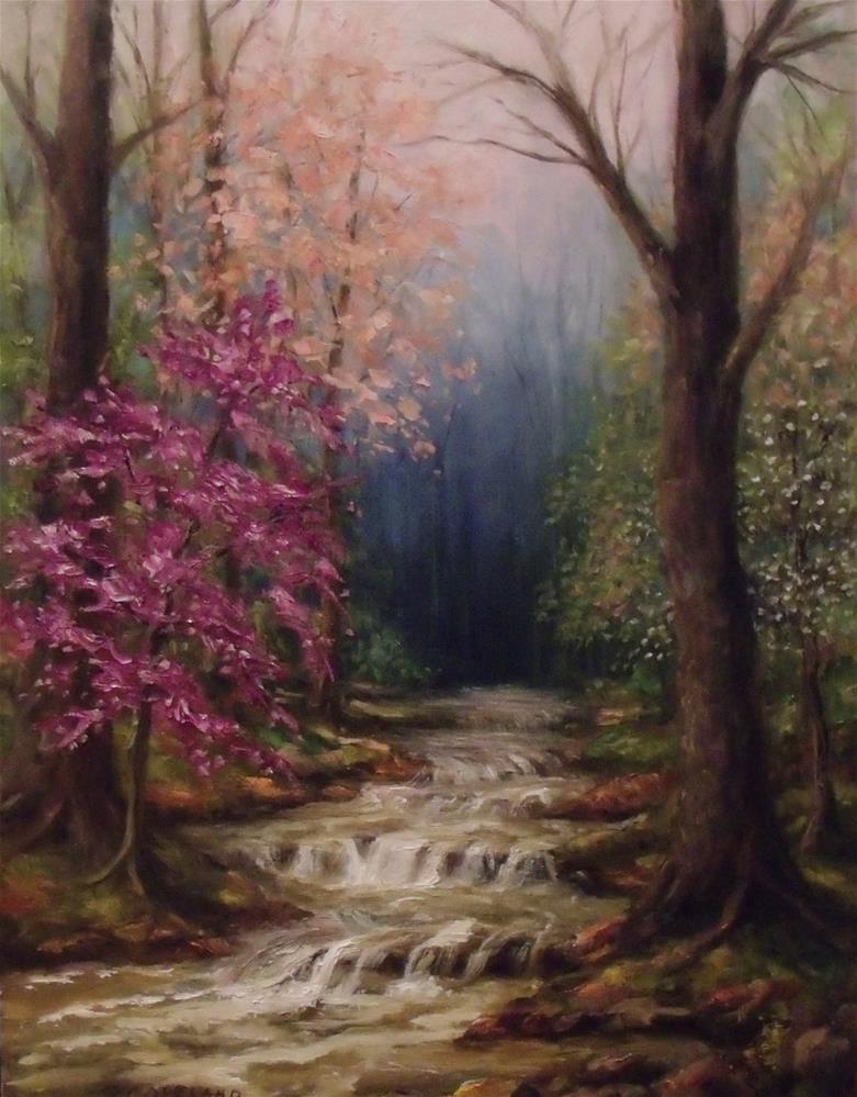 """Southern Spring"" original fine art by Pamela H. Copeland"