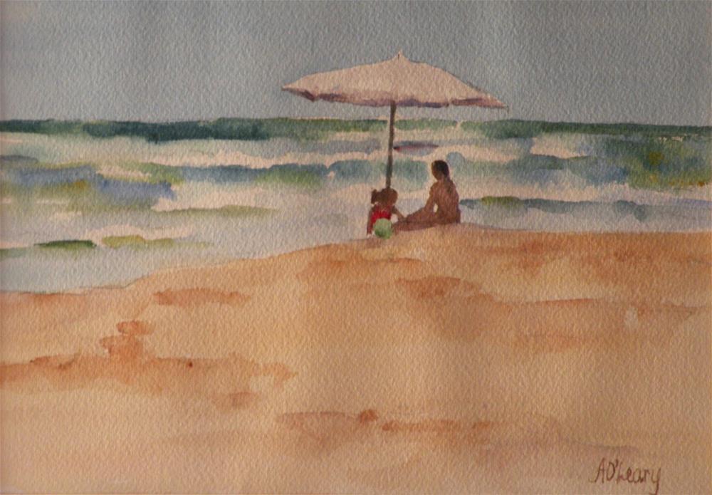"""Port A Sandcastles"" original fine art by Alice O'Leary"