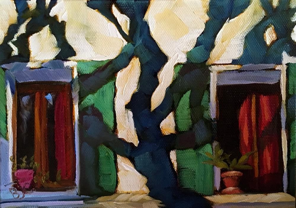 """Window/Tree Shadow Challenge"" original fine art by Bobbie Cook"