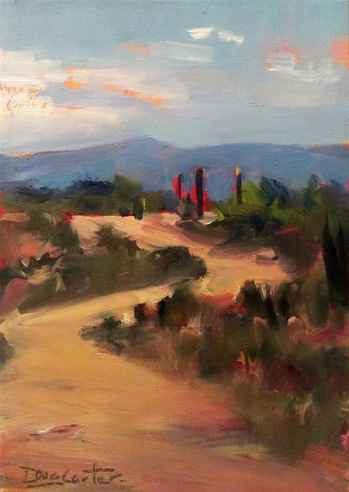 """Desert Trail "" original fine art by Doug Carter"