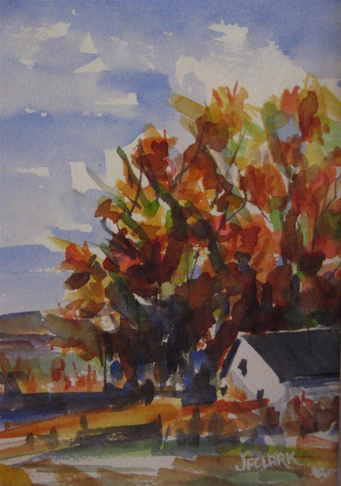 """Autumn, study"" original fine art by Judith Freeman Clark"