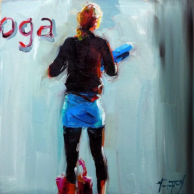 """yoga training"" original fine art by Jurij Frey"
