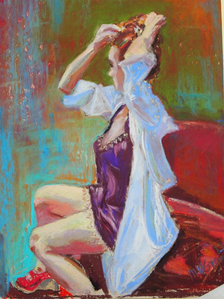 """Red Shoes"" original fine art by Michelle Wells Grant"