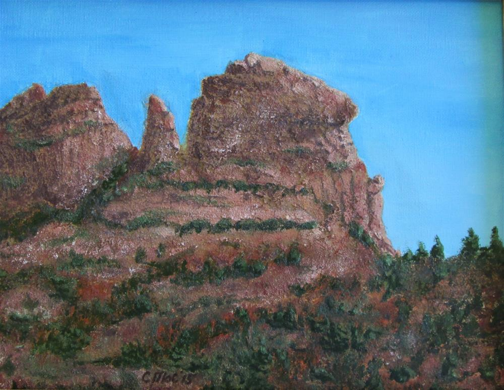 """Red Rocks of Sedona, Arizona 2"" original fine art by Chris MacCormack"