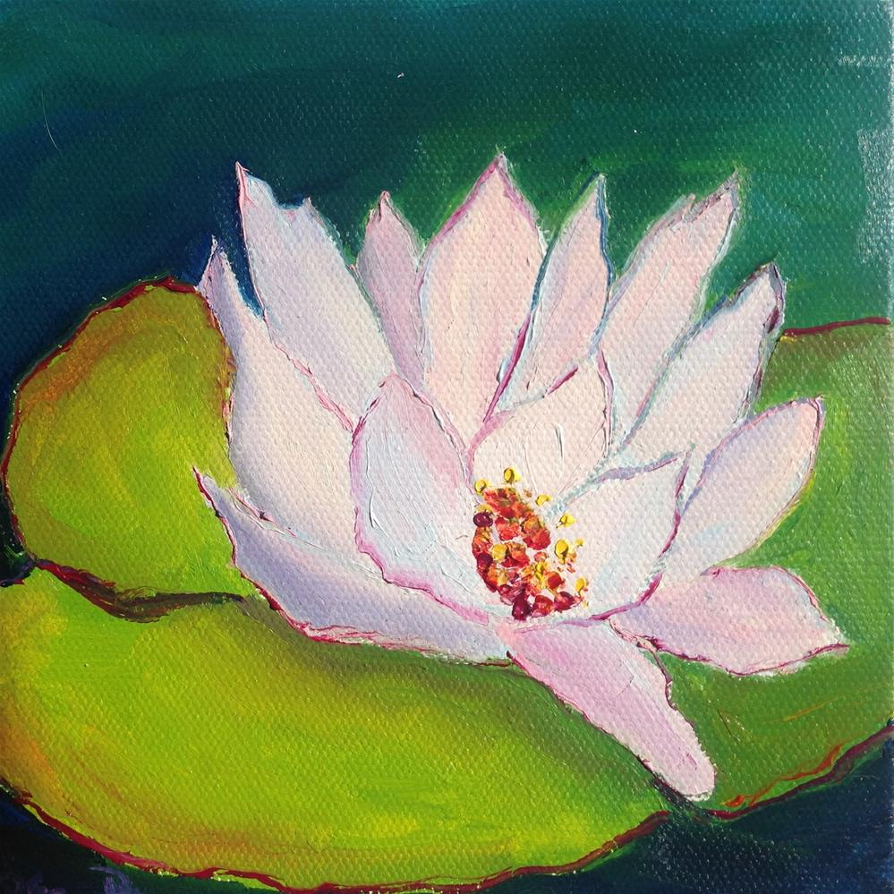 """Light Water Lily"" original fine art by Rose Brenner"