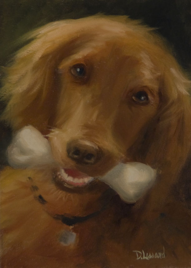 """Best friend #1202"" original fine art by Dee Lessard"