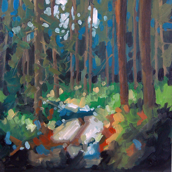 """No 347 Into the Forest"" original fine art by Robin J Mitchell"