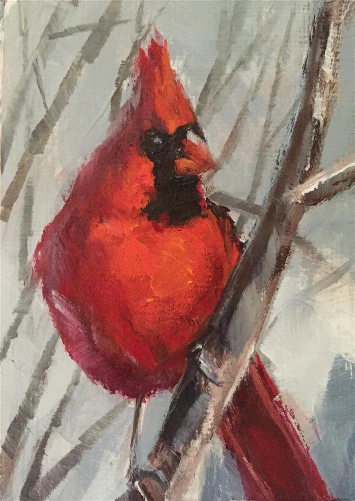 """""""Redbird II"""" original fine art by Gary Bruton"""