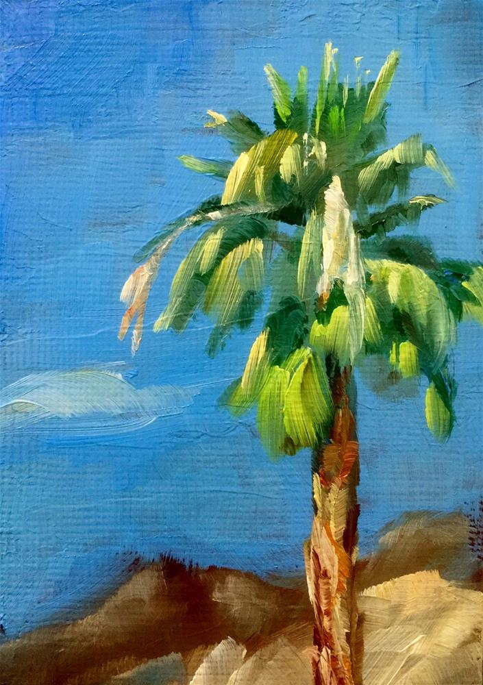 """Palm Tree in June"" original fine art by Gary Bruton"