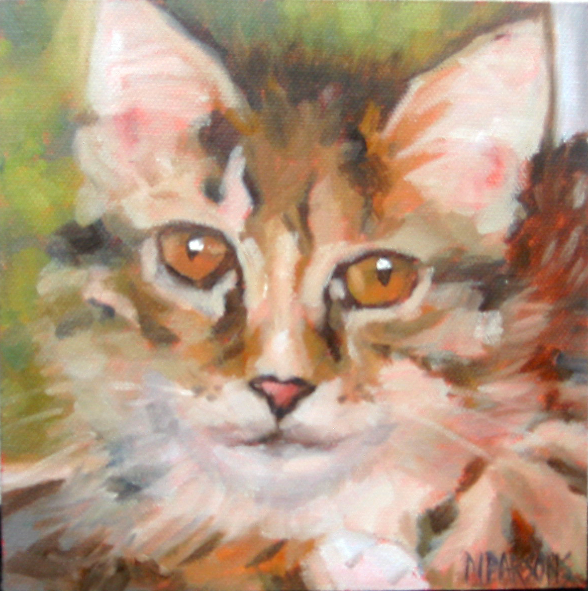 """Kitty, Kitty, Kitty"" original fine art by Nancy Parsons"