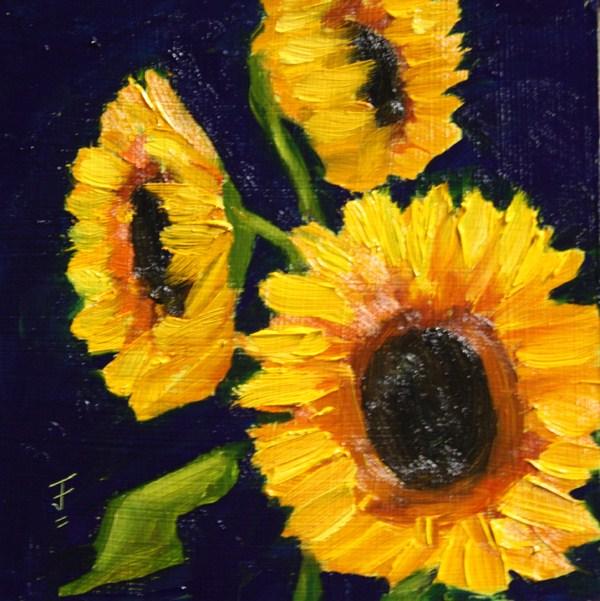 """Sunflower Reprise"" original fine art by Jane Frederick"