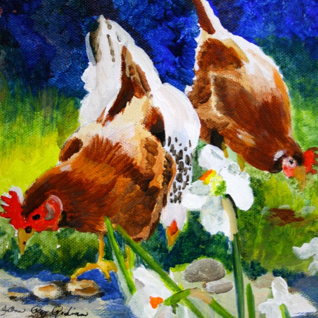 """Suburban Chicks"" original fine art by JoAnne Perez Robinson"