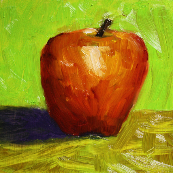 """Apple A Day"" original fine art by Jane Frederick"