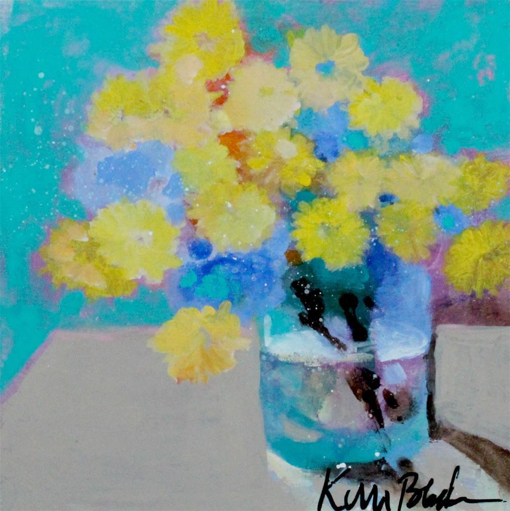 """Bouquet of Dandelions "" original fine art by Kerri Blackman"