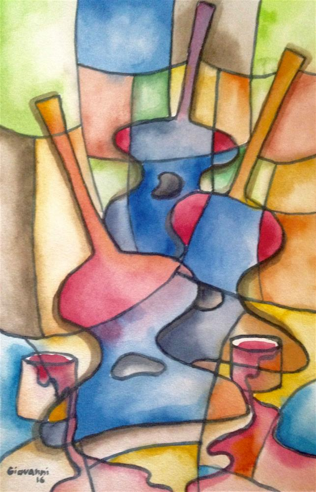 """Parade of guitars"" original fine art by Giovanni Antunez"